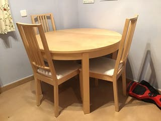 Mesa plegable + sillas