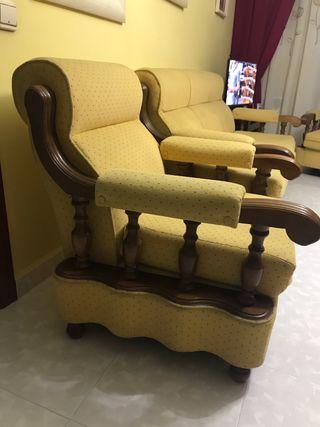 Conjunto sofa y sillones