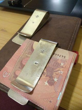 Portabilletes de plata 925 para caballero 36gr