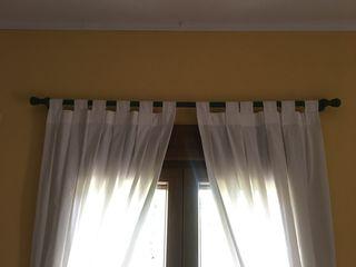 Guías rieles de madera para cortinas
