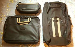 Conjunto de viaje: maleta, maletín y neceser