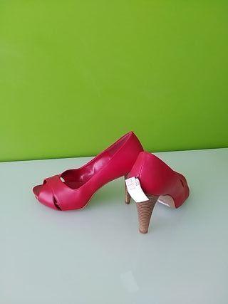 Zapatos Peep Toes rojos