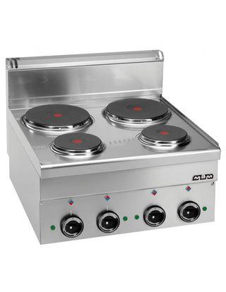Cocina industrial eléctrica 4 placas MBM