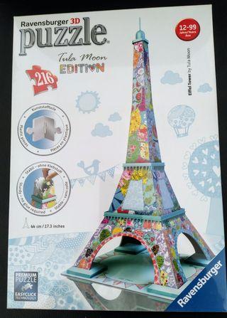 Puzzle 3d Torre Eiffel. Tula Moon Edición