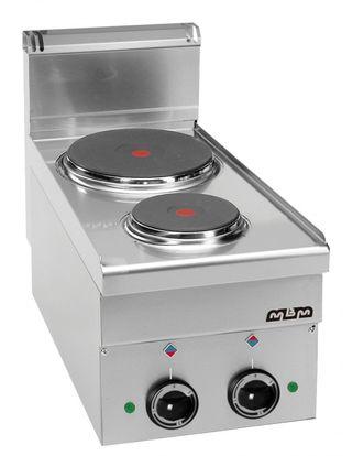 Cocina sobremesa gama 600 MBM 2 fuegos eléctrica v