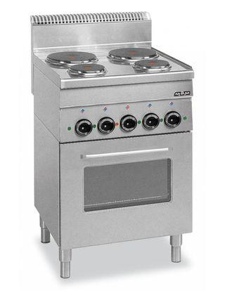 Cocina industrial eléctrica 4 placas+ horno eléctr