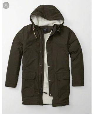 abrigo hombre parka abercrombie verde talla m