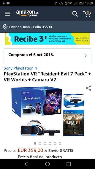 Gafas de realidad virtual (rv ps4)