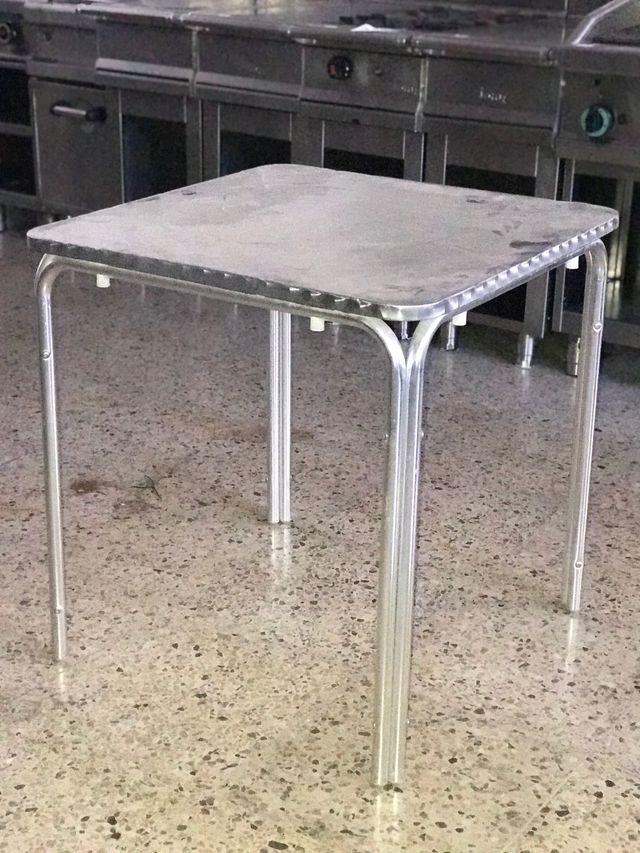 Mesa Aluminio Terraza Bar De Segunda Mano Por 32 En