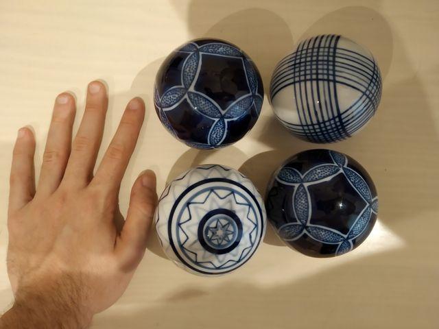 bolas decorativas de ceramica