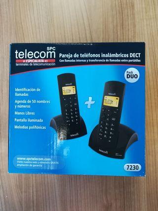 Teléfono Inalámbrico Duo Negro Telecom - Seminuevo