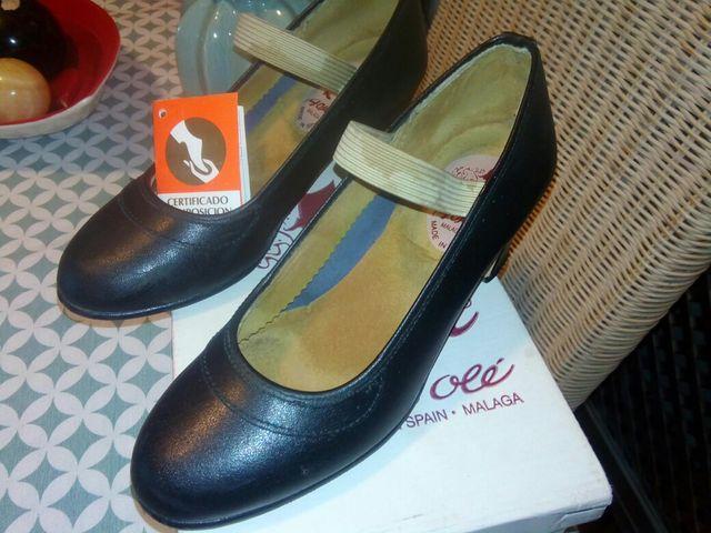 variedad de diseños y colores cómo llegar tienda oficial Zapatos de baile pura piel, n. 34 de segunda mano por 15 ...