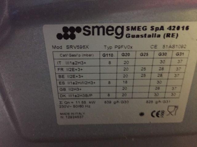 Encimera 5 fogones fuego / llama SMEG