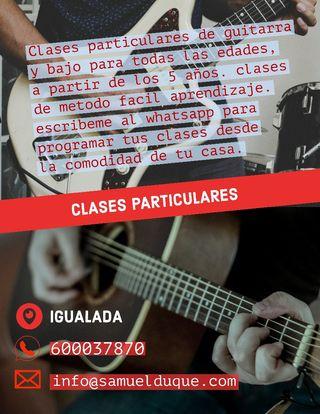 Clases particulares de guitarra y bajo