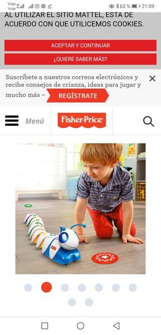 codi oruga juguete niños nuevo!