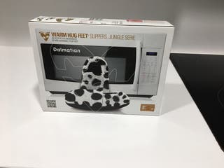 Zapatillas casa calentables microonda
