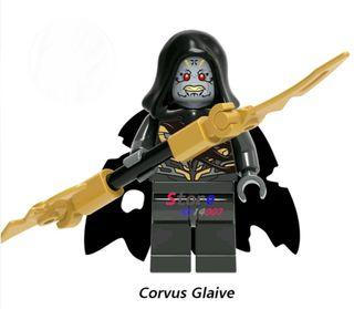 figura corvus glaive, guardia oscura thanos