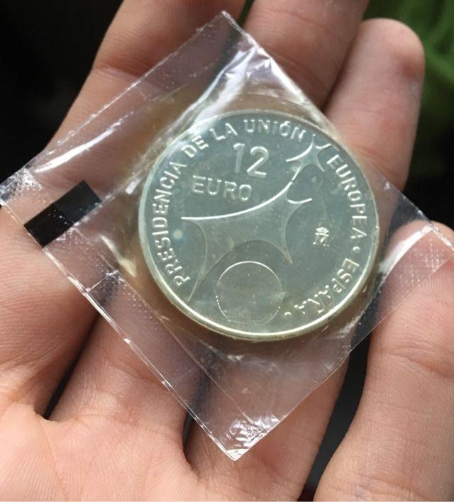 Moneda PLATA 12 Euro 2002 Blister Original