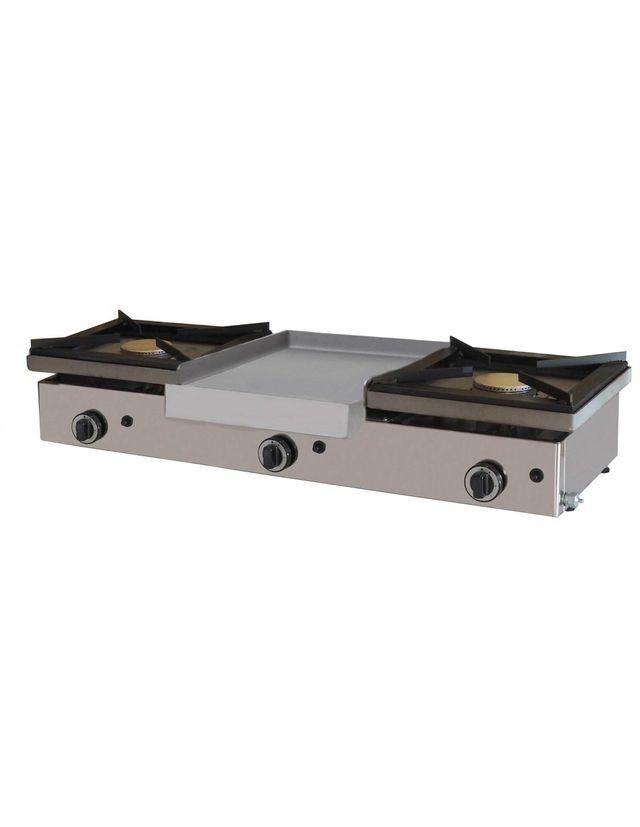 Cocina a gas sobremostrador con plancha de segunda mano - Plancha para cocina de gas ...