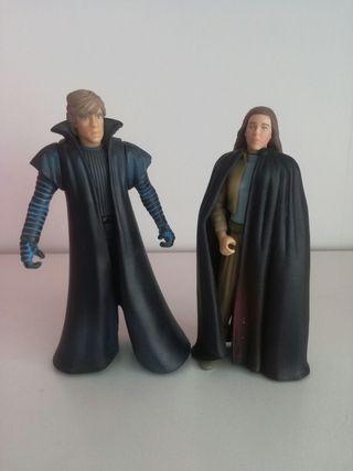Star Wars figuras Luke y Leia