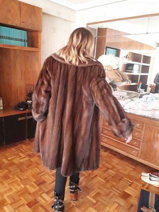 abrigo visón tres cuartos