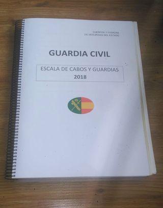 Temario oposición Guardia Civil 2019