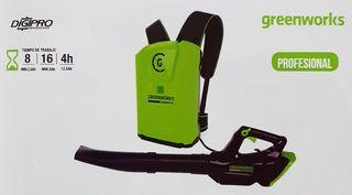 Soplador mochila GREENWORKS GC82BLB
