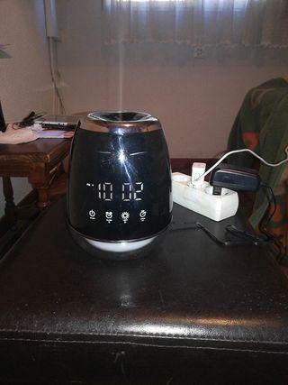 Humidificador con reloj y luz