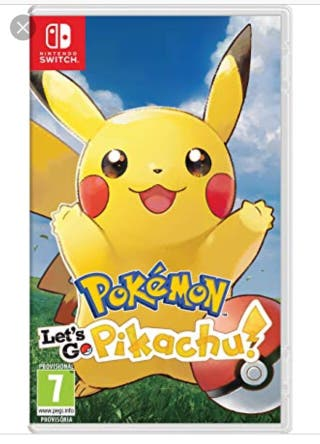 Pokemon lets go pikachu. Nintendo switch