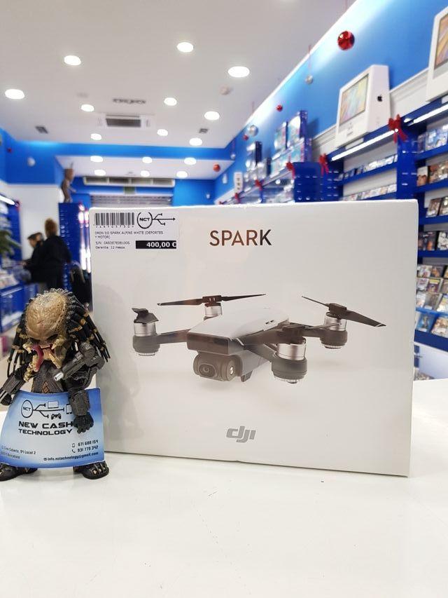 DRON DJI SPARK ALPINE WHITE PRECINTADO