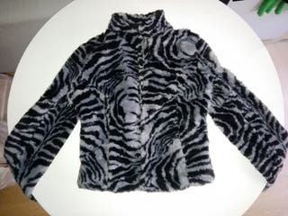 Sintético Mujer Pelo Abrigo Pelo Cebra Abrigo Rw1vZqf af2e4ad5af9b