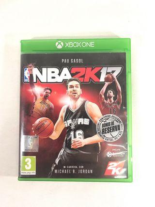 Juego NBA2k17, Xbox one.