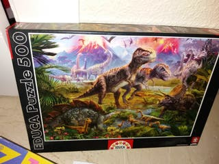 Puzzle de dinosaurios de 500 piezas