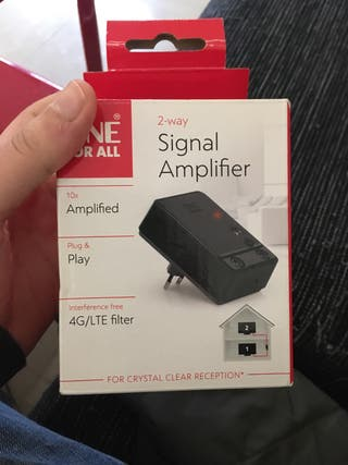 Amplificador señal tv. URGE.
