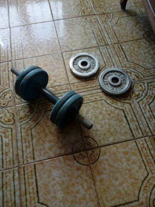 Mancuerna + 6 Discos peso