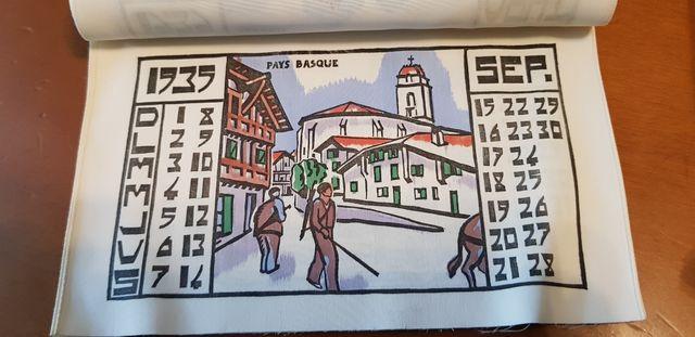 Calendario seda 1935