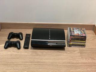 PS3 + 2 mandos + 9 juegos