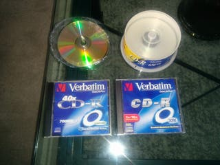 40 CDs vírgenes(Sony y Verbatim)