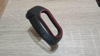 recambio pulsera mi band 2 negra y rojo