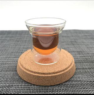Juego 6 vasitos café doble capa 63 ml