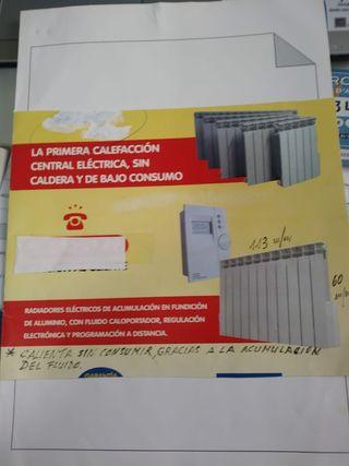 calefacción electrica de bajo consumo