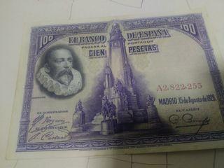 Billete 100pts Cervantes 1928