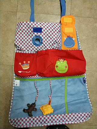 Organizador portaobjetos para bebés en coche