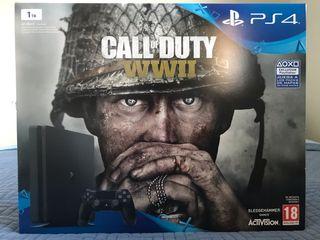 PS4 1TB EDICIÓN COD WW II