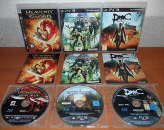Heavenly Sword,Enslaved,DmC Devil May Cry, PS3 ESP
