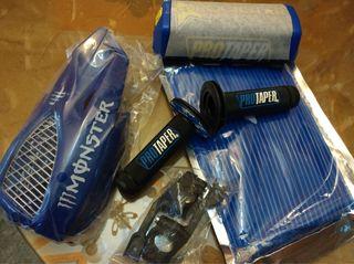 Kit azul: puños cubreradios, paramanos, protector