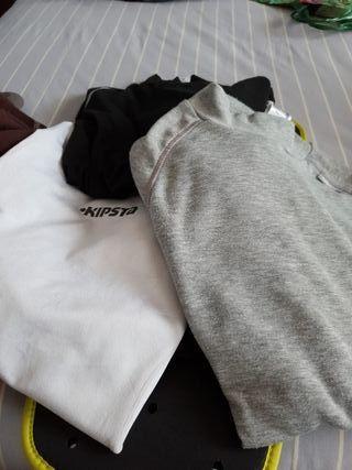 Polares y camisetas térmicas variadas talla12