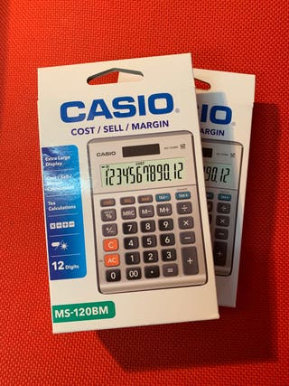Calculadora Casio sobremesa mod MS - 120 BM