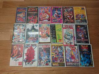 18 VHS Capcom Street Fighter Vampire Xmen cps2 cps