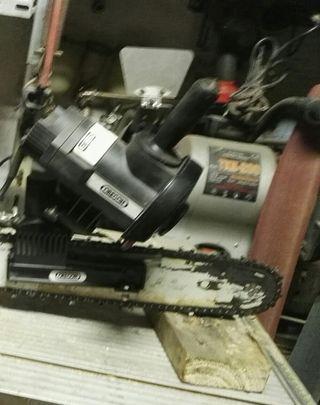 maquina para afilar motosierra